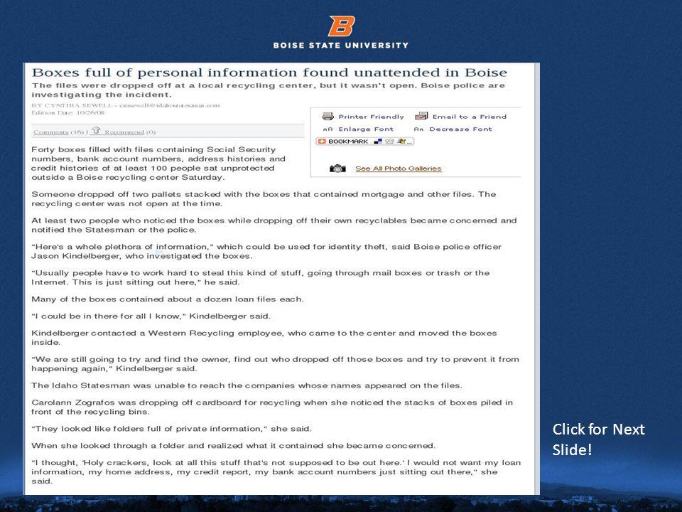 © 2012 Boise State University20 Click for Next Slide!