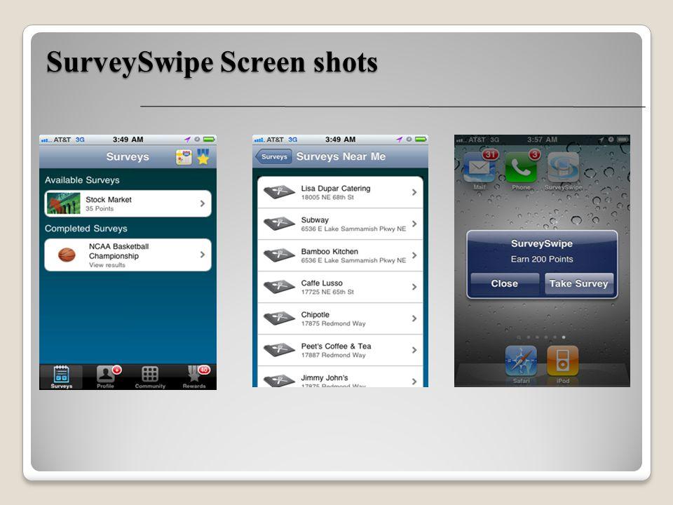 SurveySwipe Screen shots