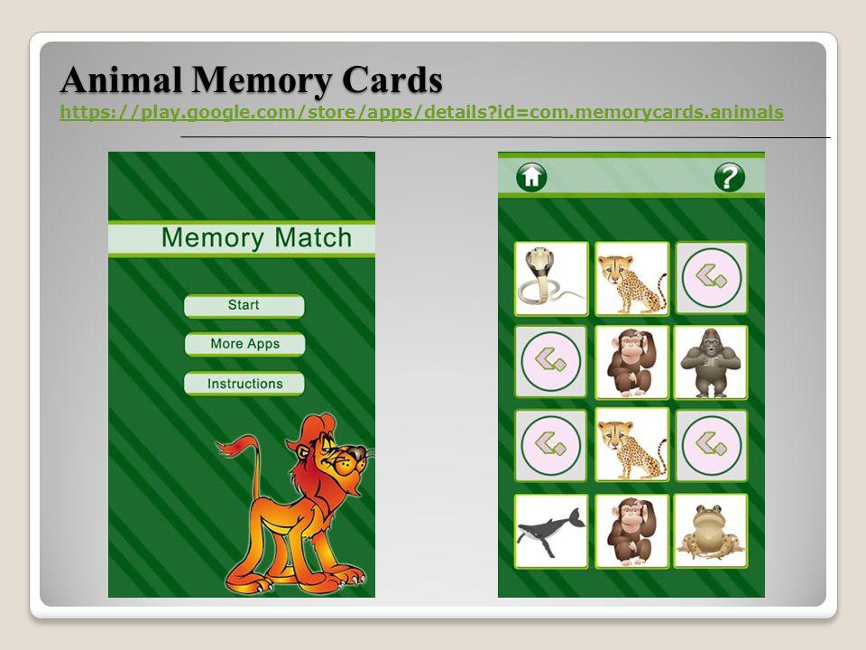 Animal Memory Cards https://play.google.com/store/apps/details id=com.memorycards.animals