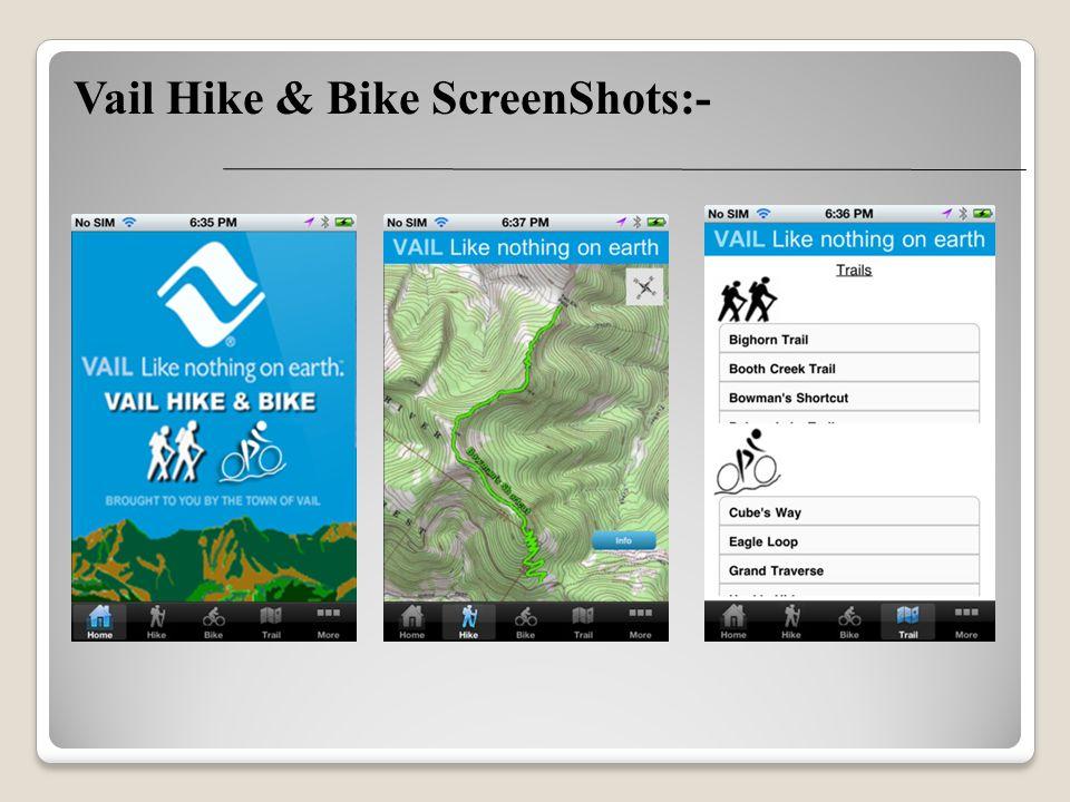 Vail Hike & Bike ScreenShots:-