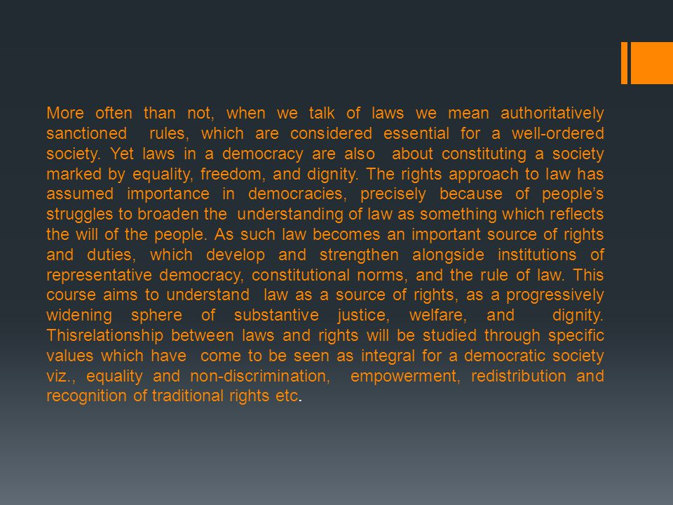 I. Rule of law and the Criminal Justice System in India