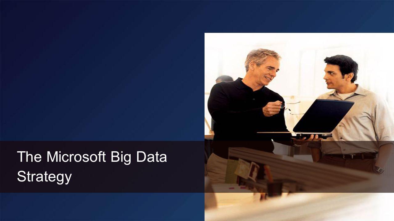 The Microsoft Big Data Strategy