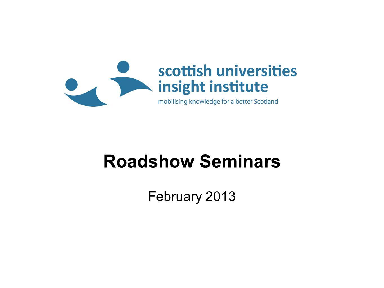 Roadshow Seminars February 2013