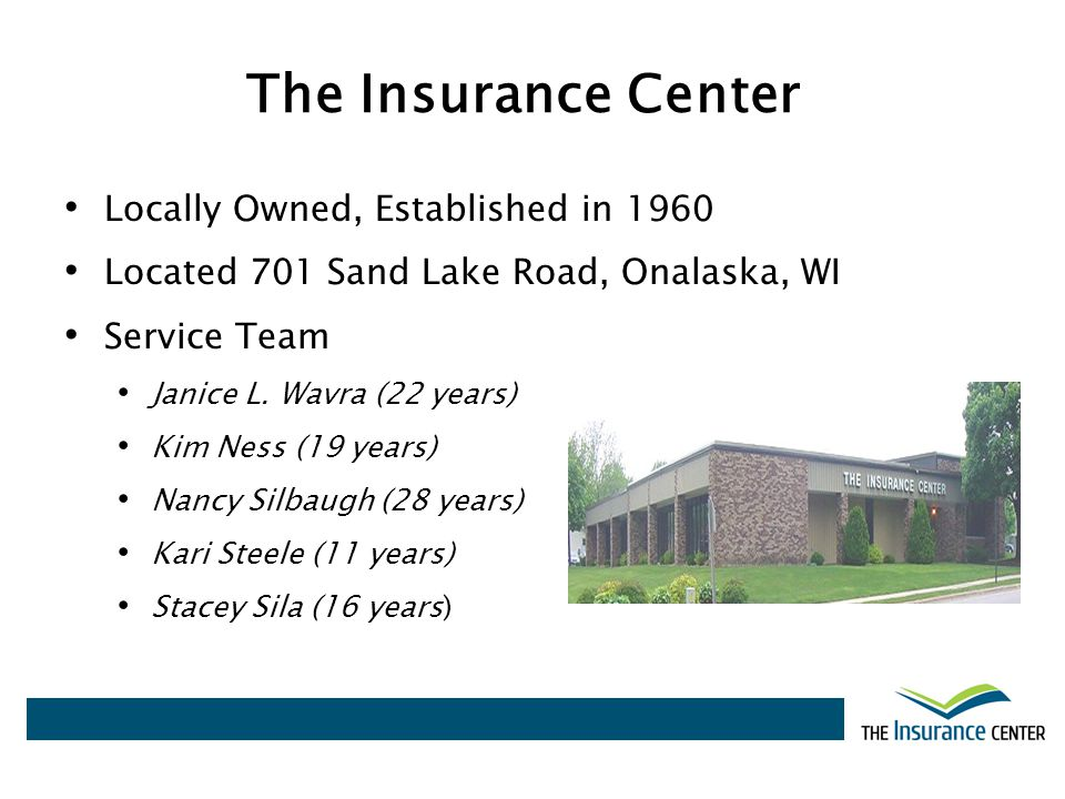 Locally Owned, Established in 1960 Located 701 Sand Lake Road, Onalaska, WI Service Team Janice L. Wavra (22 years) Kim Ness (19 years) Nancy Silbaugh