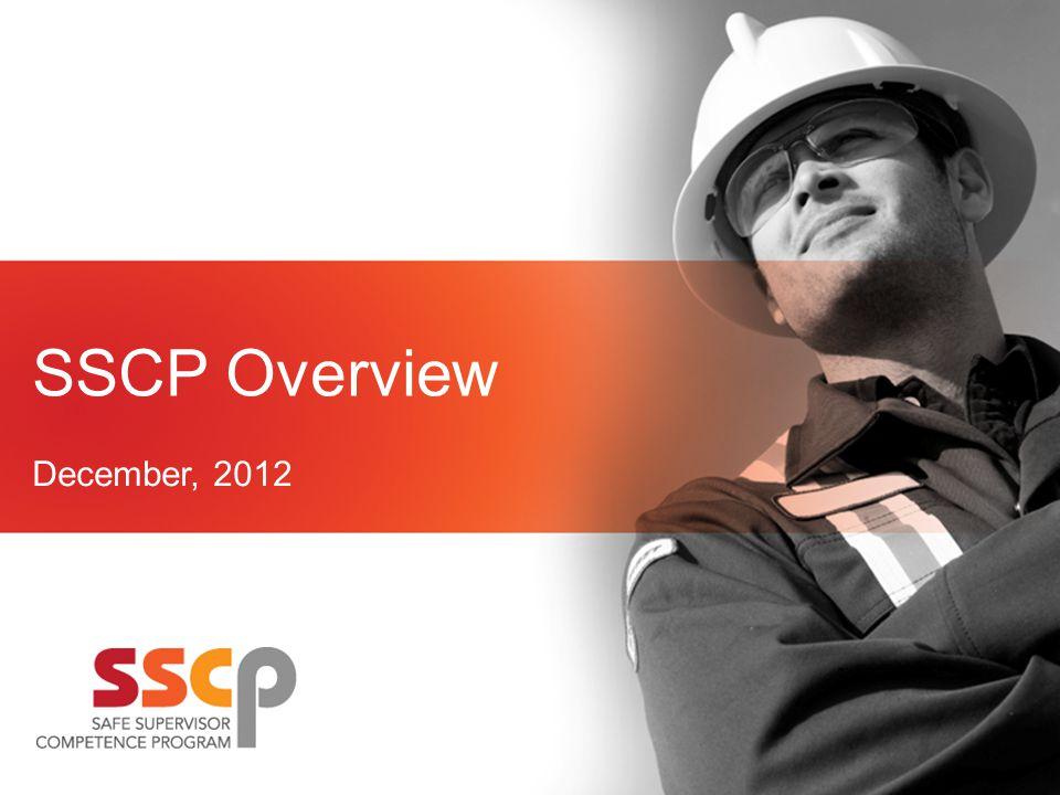 SSCP Overview December, 2012