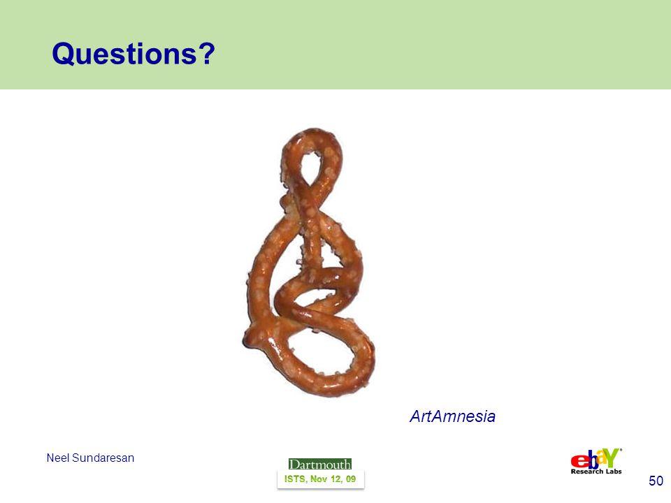 50 Neel Sundaresan Questions ArtAmnesia