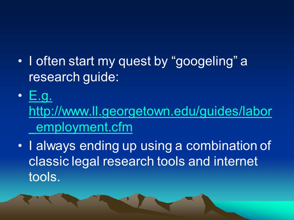 I often start my quest by googeling a research guide: E.g.