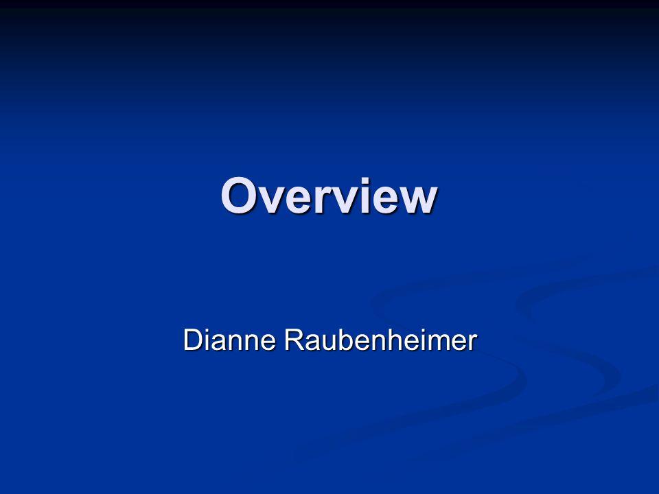 Overview Dianne Raubenheimer