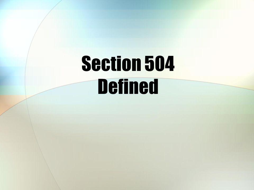 Section 504 Building Liaison