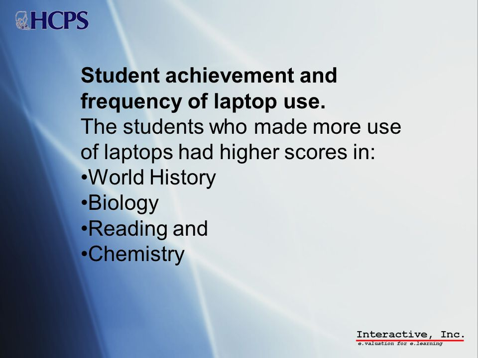 Student achievement and frequency of laptop use.