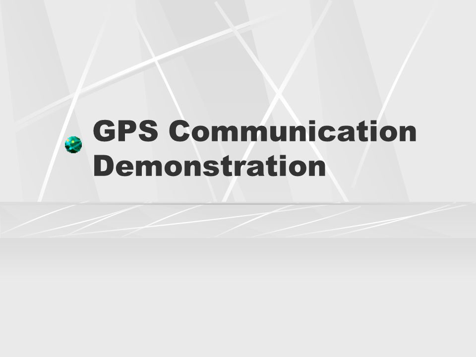 GPS Communication Demonstration