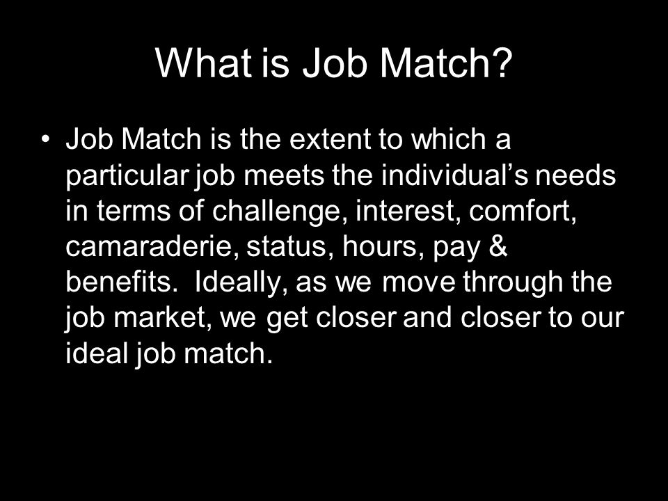 What is Job Match.