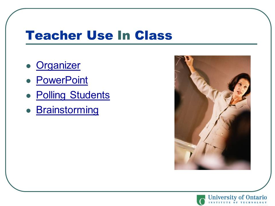 Teacher Use In Class Organizer PowerPoint Polling Students Brainstorming
