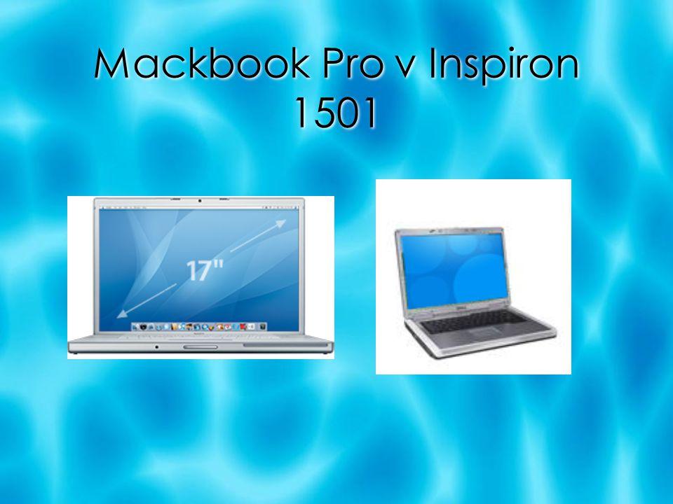 Mackbook Pro v Inspiron 1501