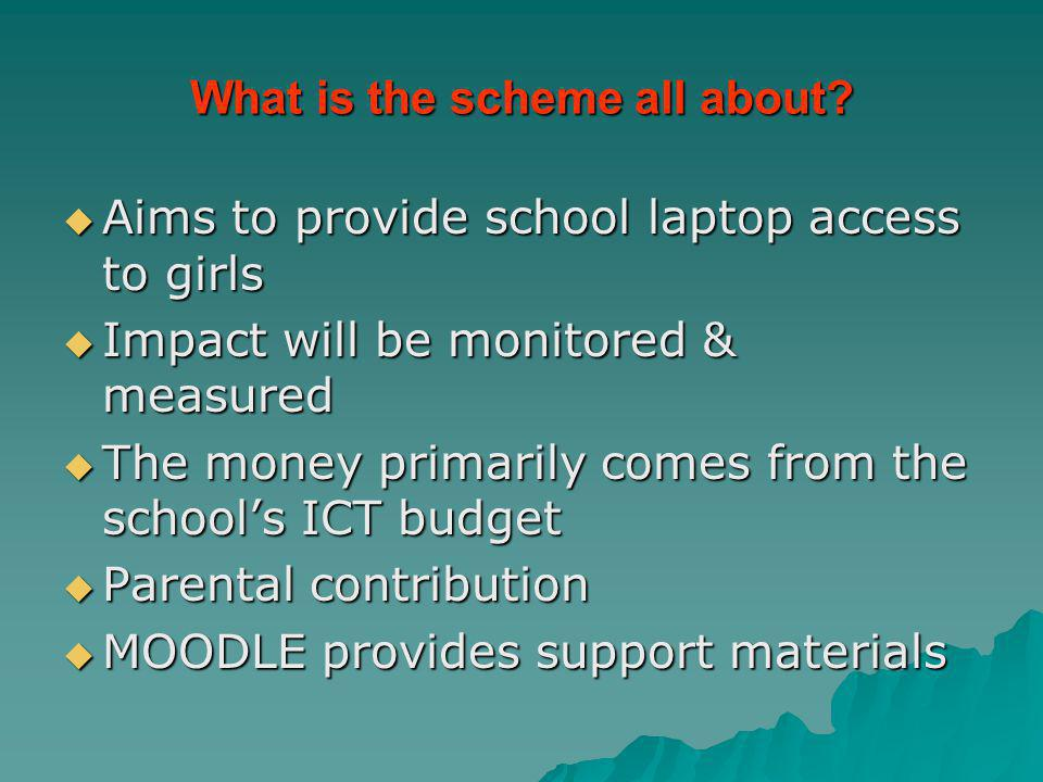 What is the scheme all about.