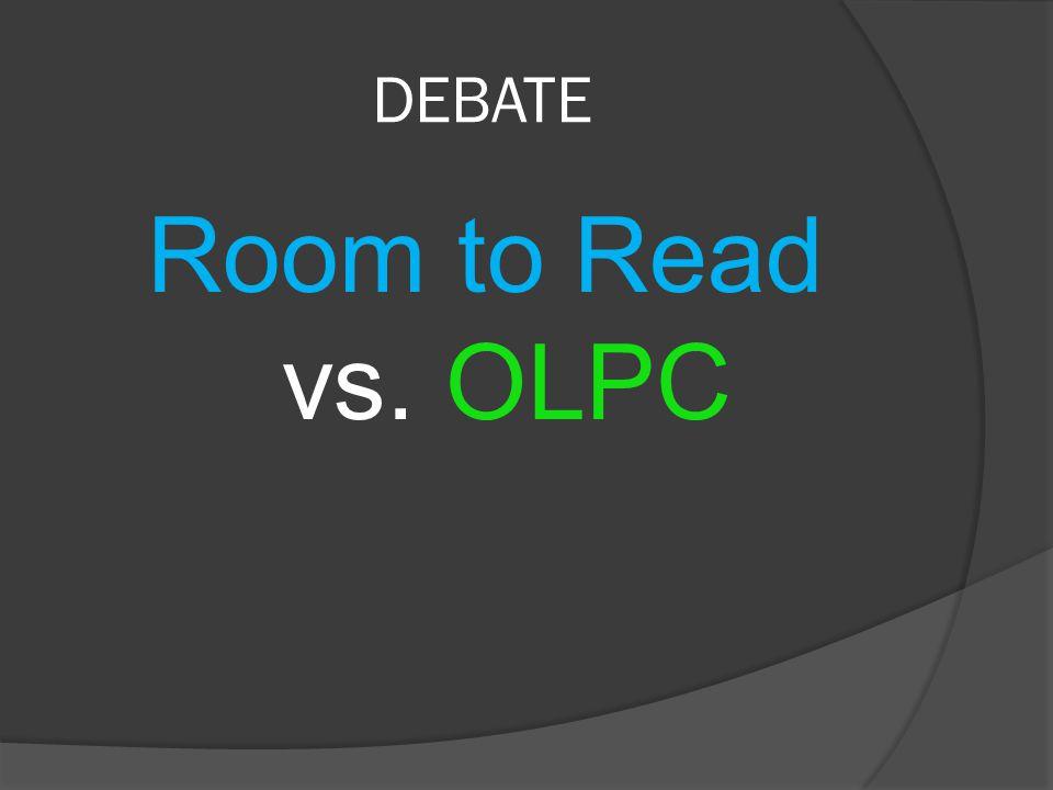 DEBATE Room to Read vs. OLPC