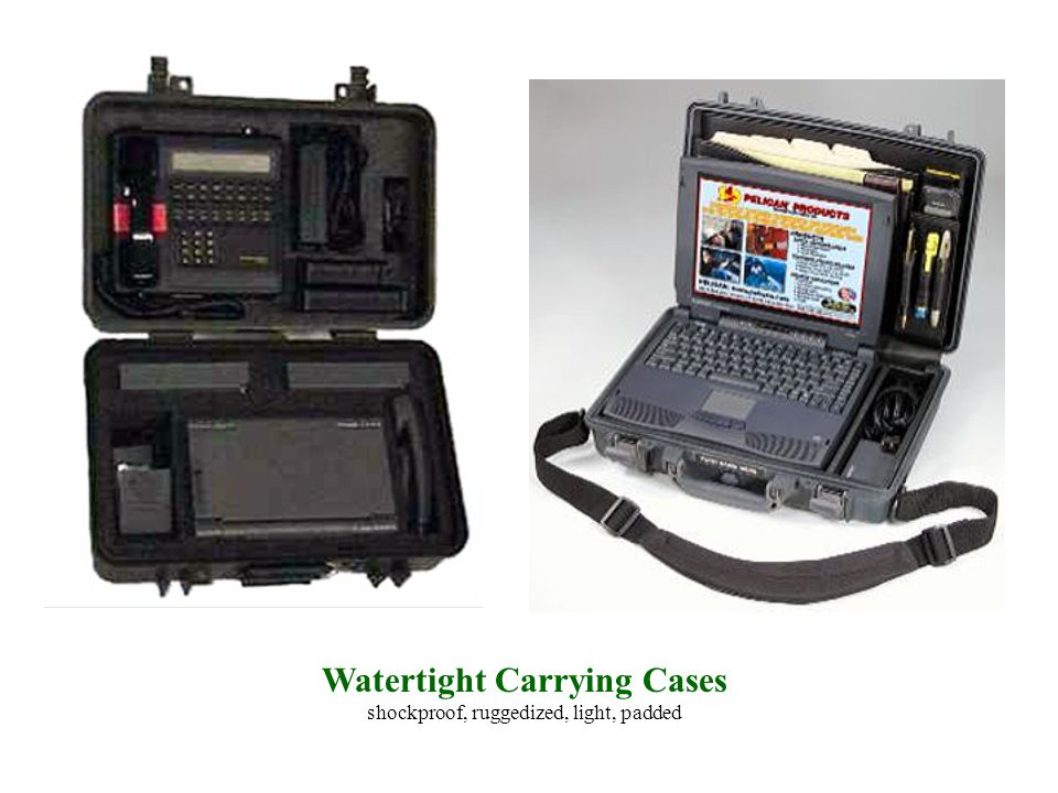 Watertight Carrying Cases shockproof, ruggedized, light, padded