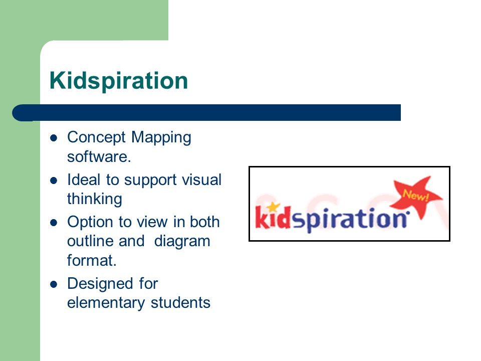 Kidspiration Concept Mapping software.