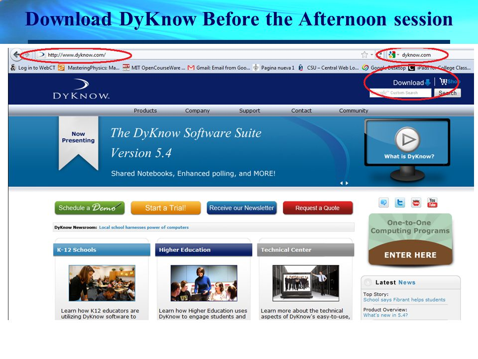 Download DyKnow Before the Afternoon session