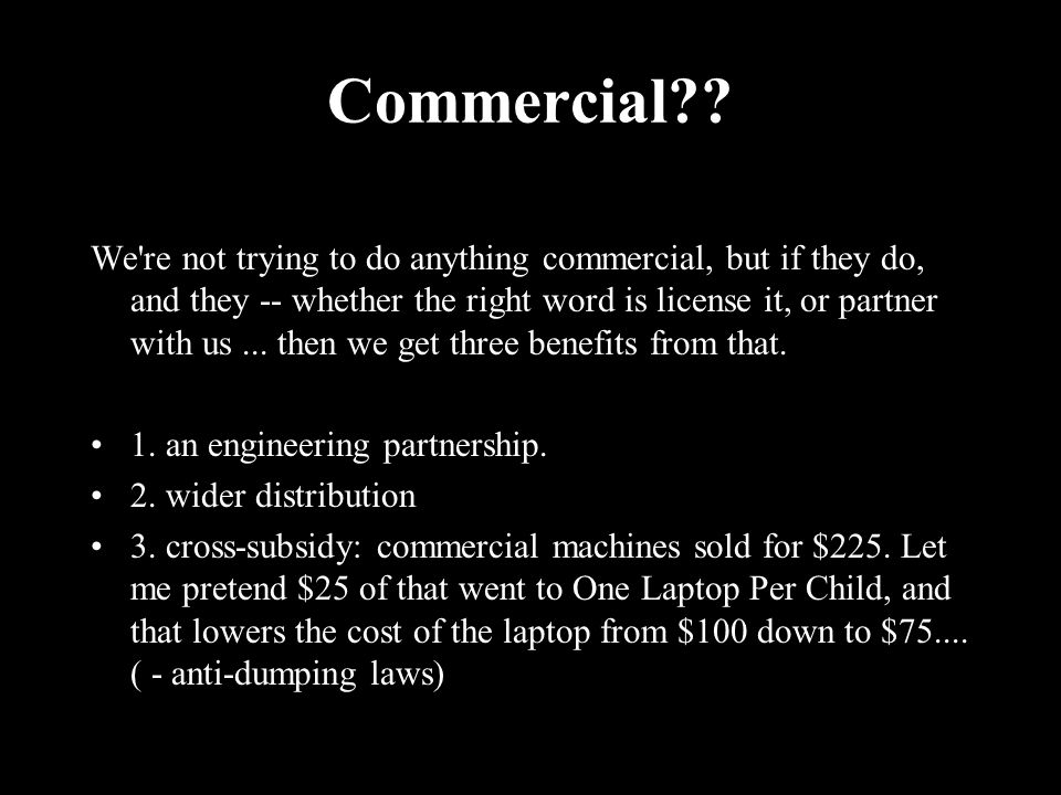 Commercial?.