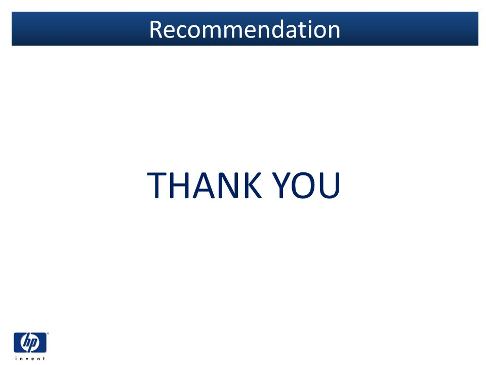 Recommendation THANK YOU