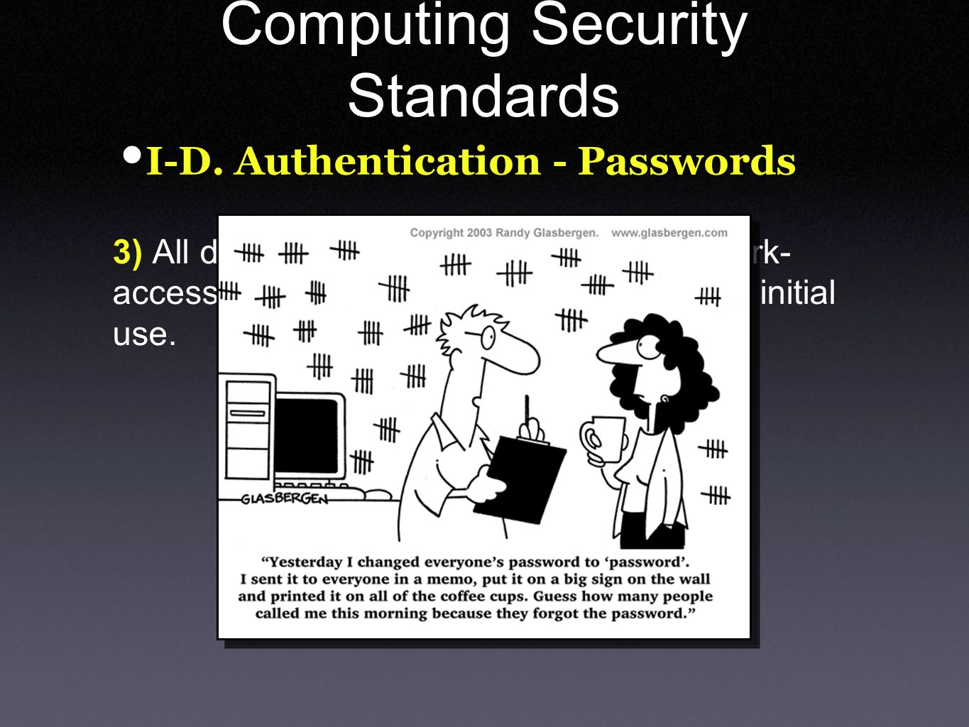 Computing Security Standards I-D.