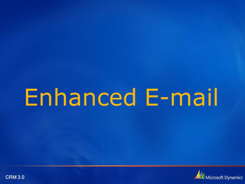 CRM 3.0 Enhanced E-mail