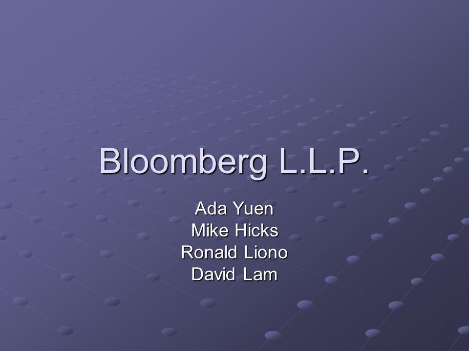 Bloomberg L.L.P. Ada Yuen Mike Hicks Ronald Liono David Lam