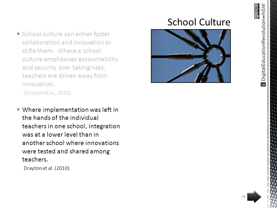School culture can either foster collaboration and innovation or stifle them.