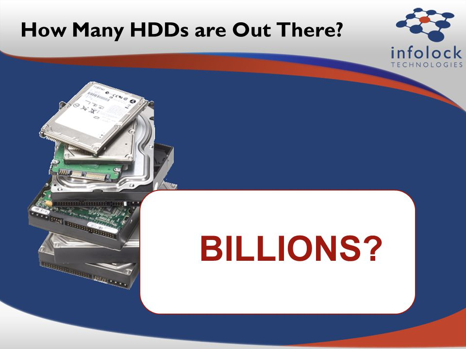 How Many HDDs are Out There? BILLIONS?