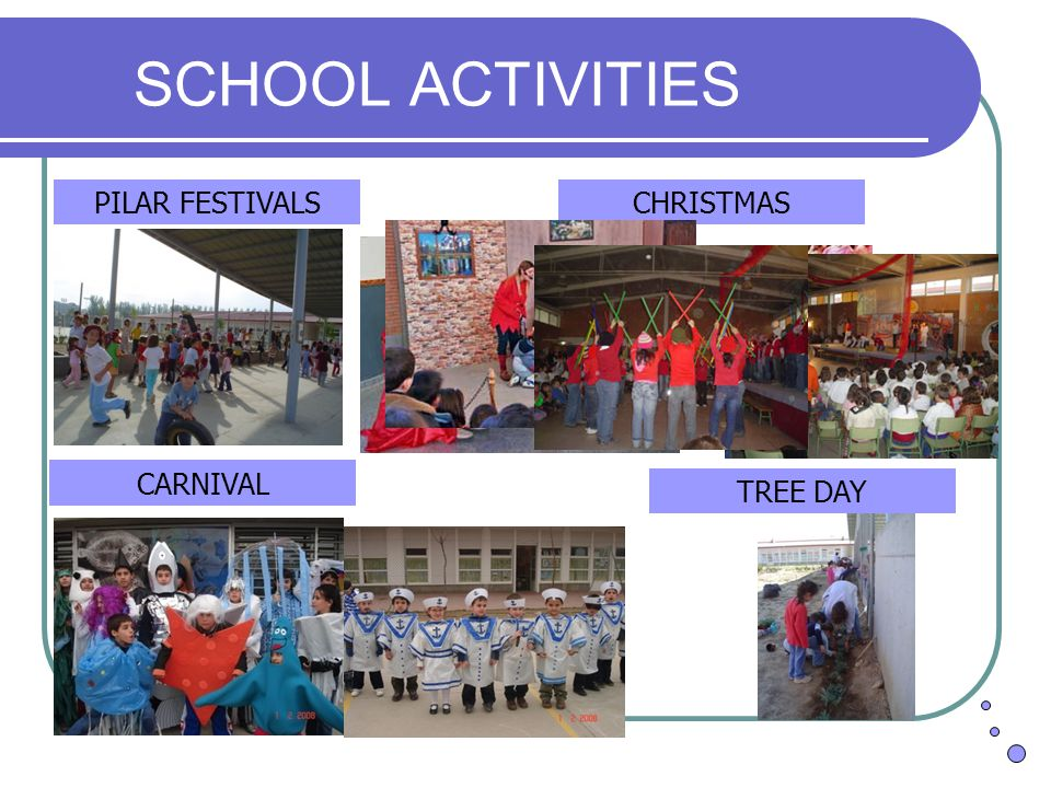 SCHOOL ACTIVITIES CHRISTMASPILAR FESTIVALS CARNIVAL TREE DAY