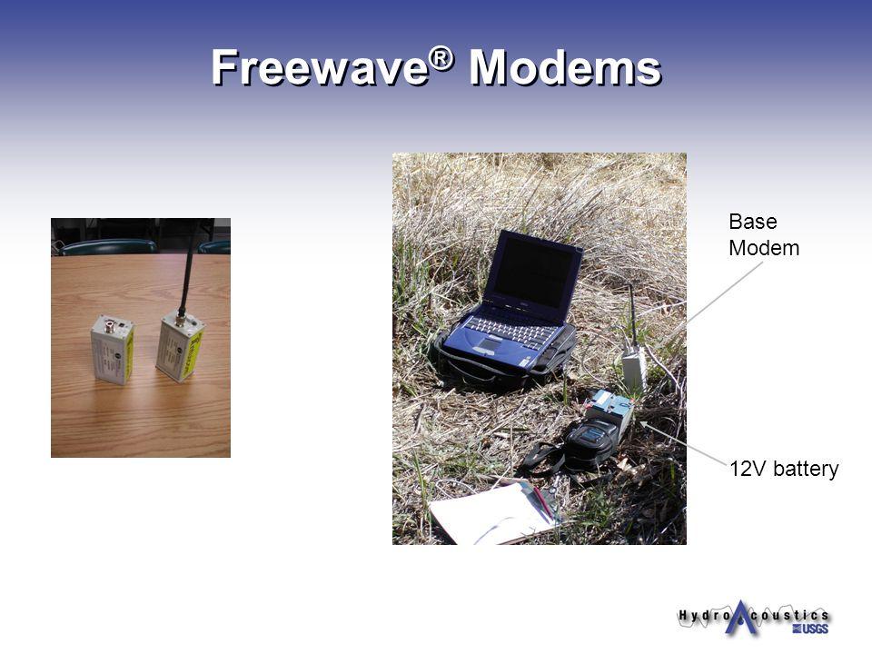 Freewave ® Modems 12V battery Base Modem