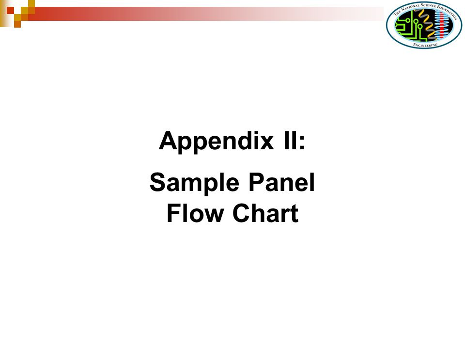 Appendix II: Sample Panel Flow Chart
