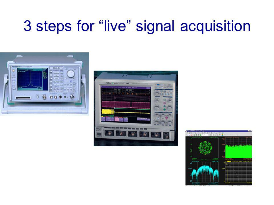 3 steps for live signal acquisition