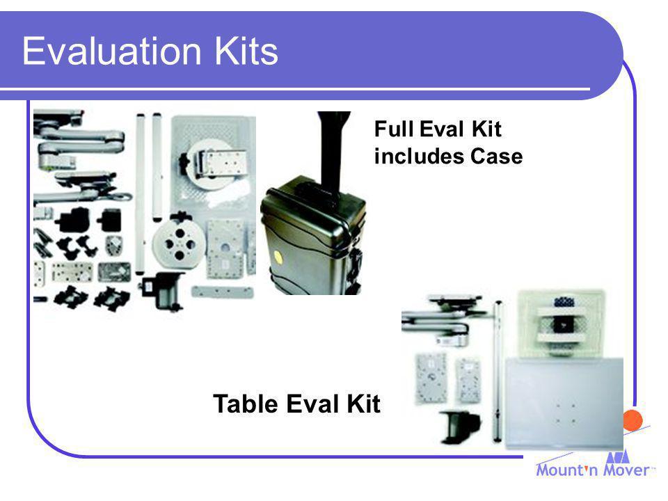 Evaluation Kits Full Eval Kit includes Case Table Eval Kit