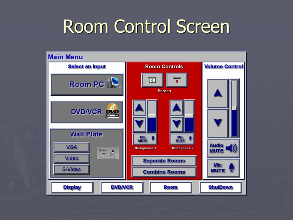 Room Control Screen