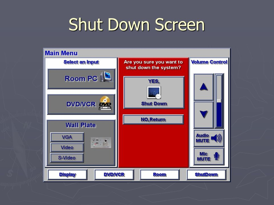 Shut Down Screen