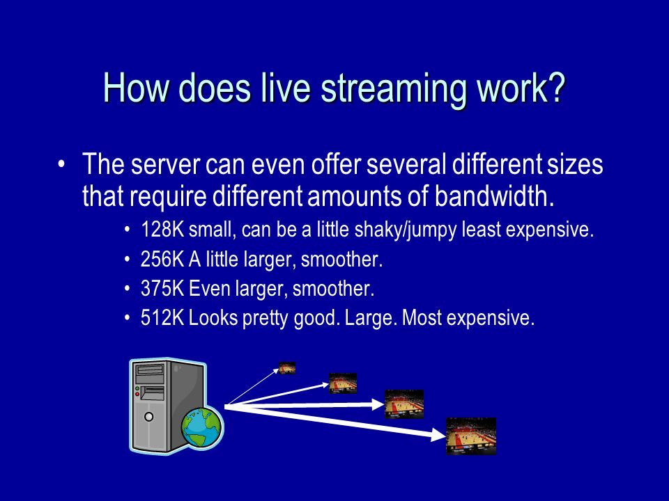 How does live streaming work.