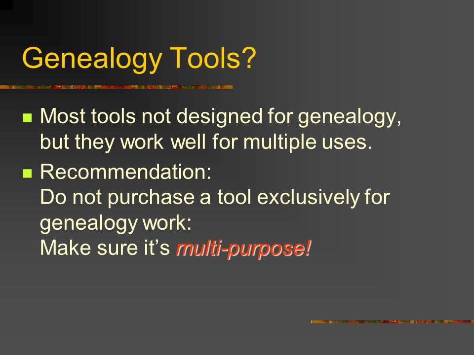 A Look at Devices to Expand or Simplify Genealogy Research Digital cameras, portable scanners, PDAs … Just a few of the new technologies available to modern genealogists.