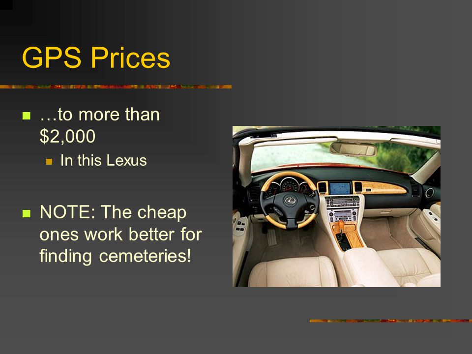 GPS Prices …to $899 (also at Wal-Mart)
