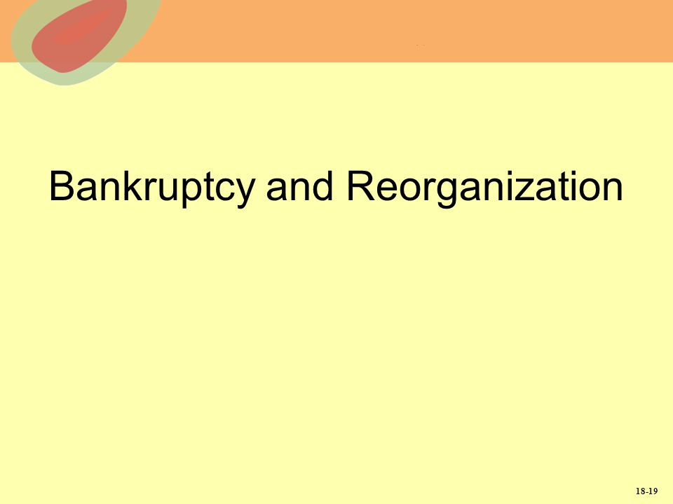 18-19 Bankruptcy and Reorganization