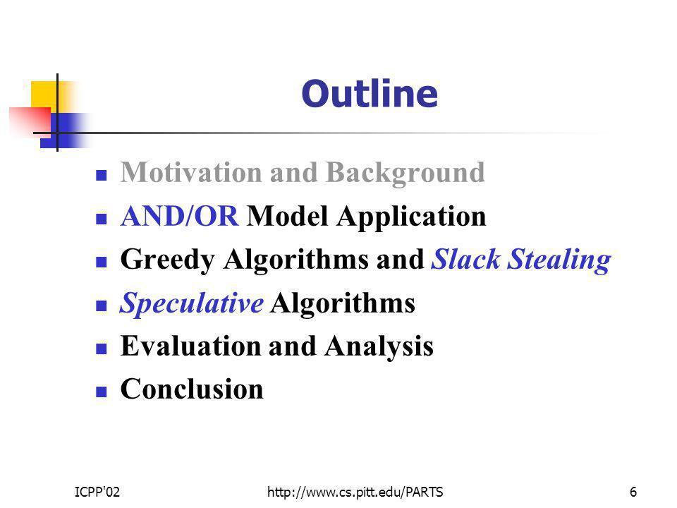 ICPP 02http://www.cs.pitt.edu/PARTS17 Evaluation (cont.) Intel Xscale Synthetic App.