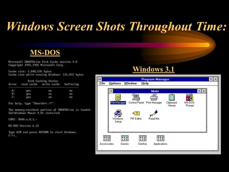 Windows Screen Shots Throughout Time: MS-DOS Windows 3.1