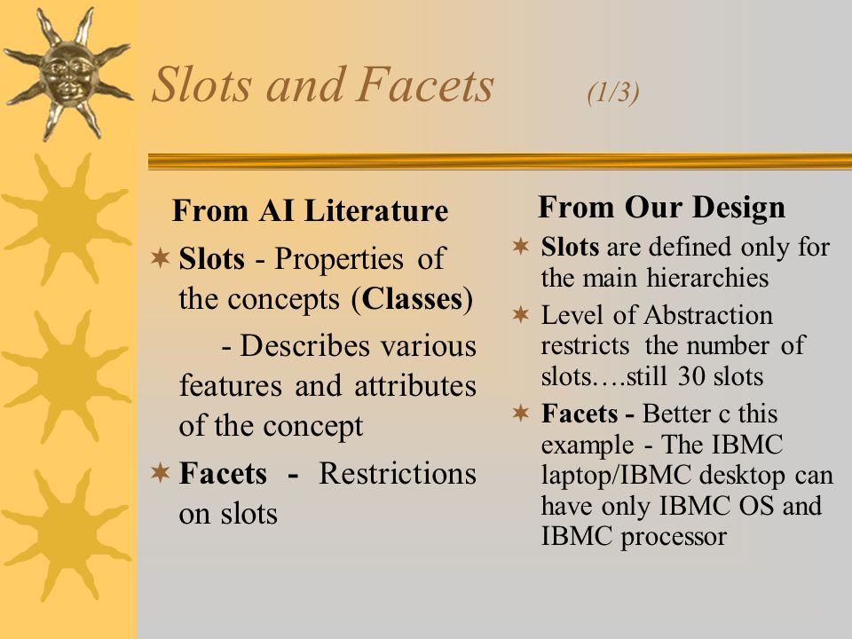 Slots and Facets (2/3)