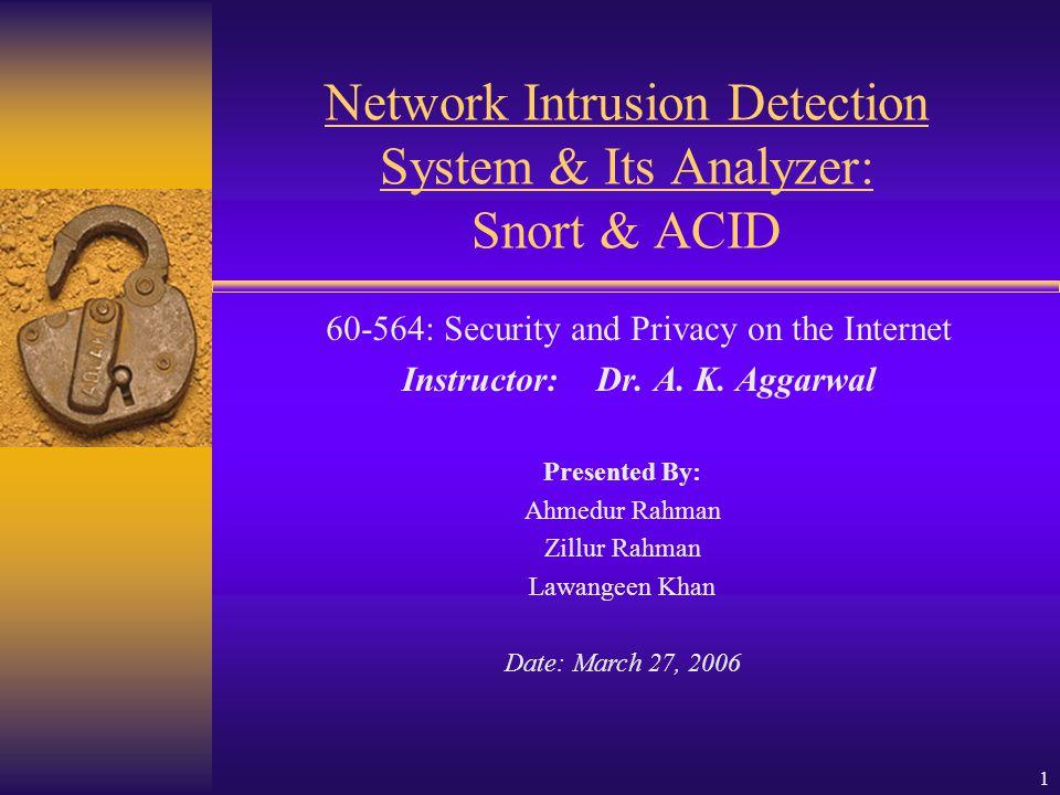 32 References http://www.securitydocs.com/library/1737 http://www.andrew.cmu.edu/user/rdanyliw/snort/acid_config.html http://www.idevelopment.info/data/MySQL/DBA_tips/Installing/WIN417_4.