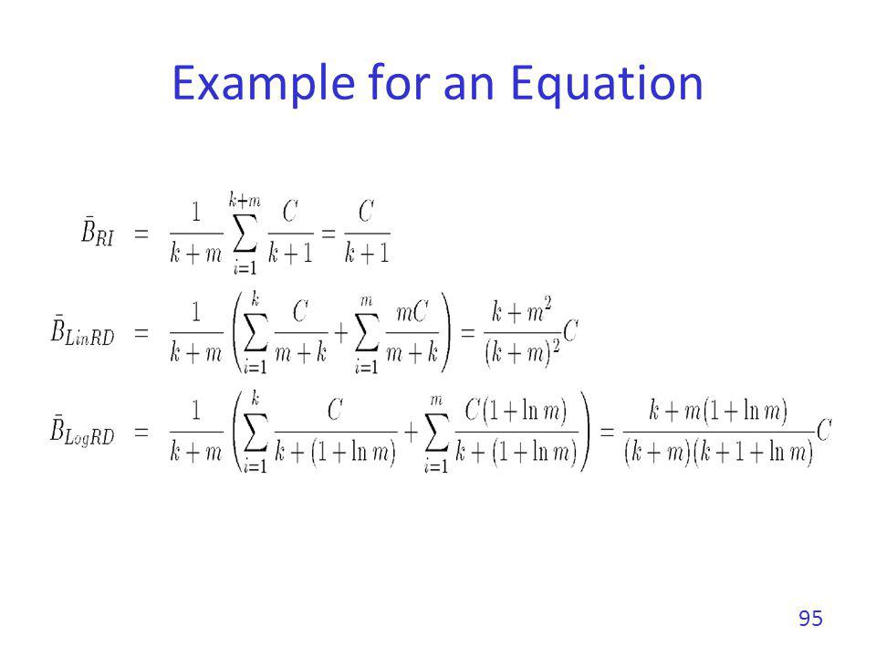 Example for an Equation 95