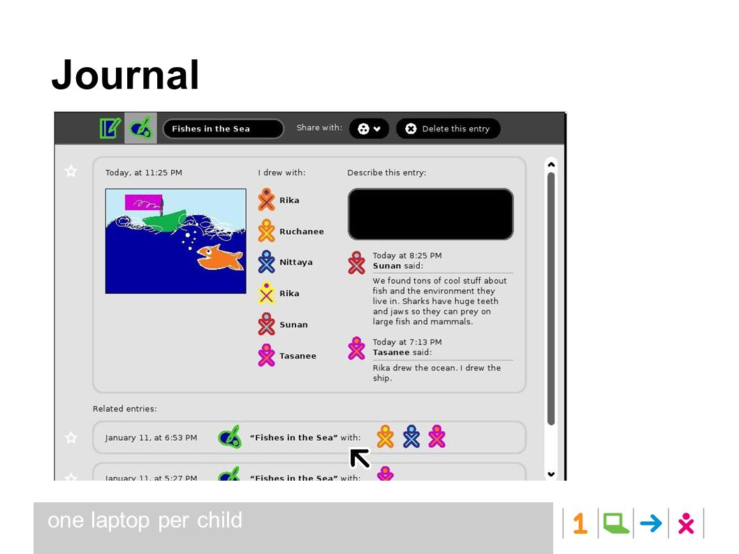 one laptop per child Journal