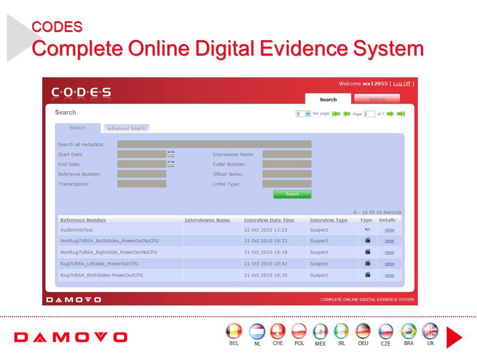 CODES Complete Online Digital Evidence System