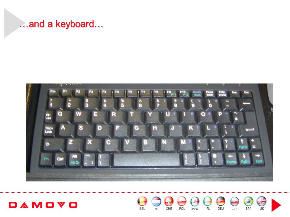 …and a keyboard…