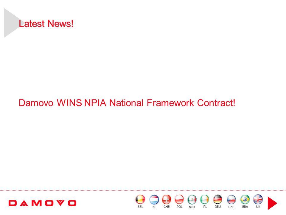 Latest News! Damovo WINS NPIA National Framework Contract!